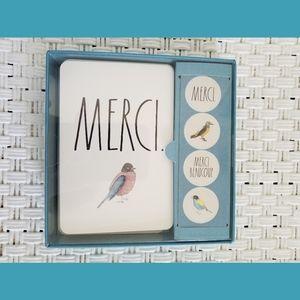 Rae Dunn Merci Bird Notecards & Stickers NEW
